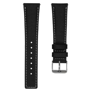 ZULUDIVER Westbay Upcycled SEAQUAL® Fabric Watch Strap - Black