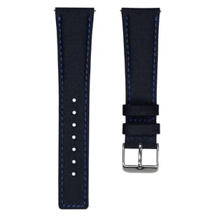 ZULUDIVER Westbay Upcycled SEAQUAL® Fabric Watch Strap - Dark Blue