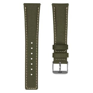 ZULUDIVER Westbay Upcycled SEAQUAL® Fabric Watch Strap - Khaki