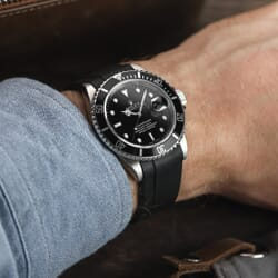 ZULUDIVER Kingsand Curved End Rubber Watch Strap