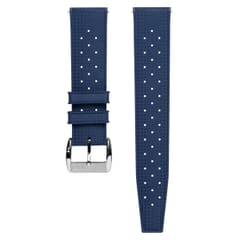 ZULUDIVER Vintage Tropical Style FKM Rubber Watch Strap - Blue
