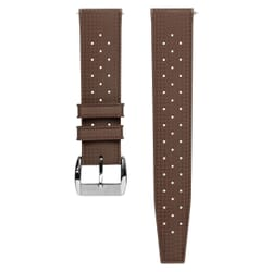 ZULUDIVER Vintage Tropical Style FKM Rubber Watch Strap - Brown