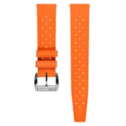 ZULUDIVER Vintage Tropical Style FKM Rubber Watch Strap - Orange