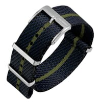 ZULUDIVER Sennen NATO Watch Strap - Midnight Blue & Green