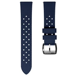 ZULUDIVER Modern Tropical Style Rubber Watch Strap - Blue