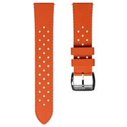 ZULUDIVER Modern Tropical Style Rubber Watch Strap - Orange